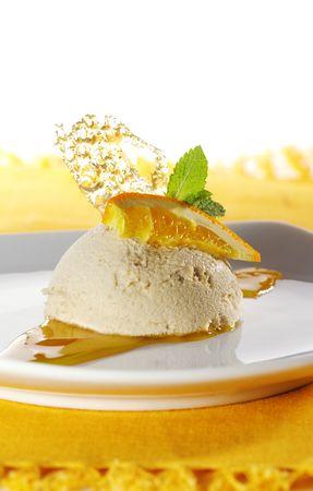 Dessert - Coffee Mousse with Orange Sauce photo