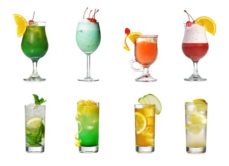 Cocktail Collection Isolated over White photo