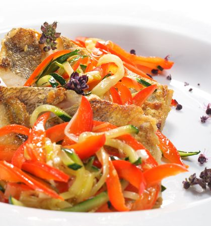 Grilled Fish with Julienne Vegetable photo