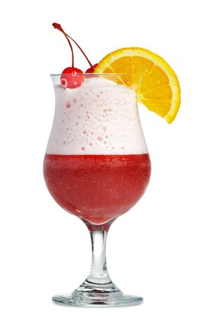 Frozen Berry Cocktail with Cherry and Orange photo