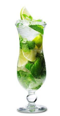 mojito: Cocktail - Mojito with Fresh Mint and Lime Slice
