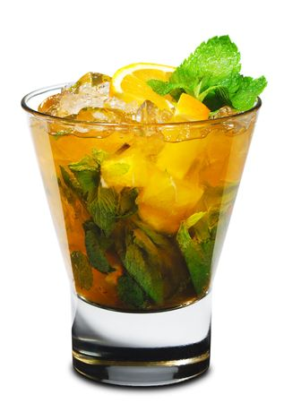 Cocktail - Mojito with Orange and Mint photo