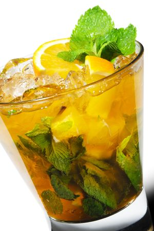 Cocktail - Mojito with Orange and Mint Stock Photo - 4958202