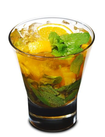 Cocktail - Mojito with Orange and Mint Stock Photo - 4958324