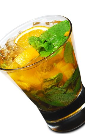 Cocktail - Mojito with Orange and Mint Stock Photo - 4958231