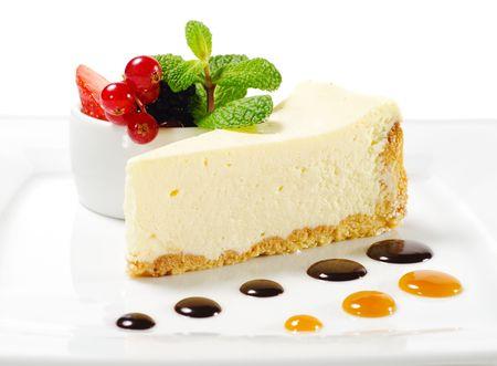 Dessert - g�teau au fromage avec Fresh Berries Bowl Mint Green Banque d'images