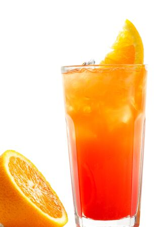 grenadine: Refreshment Alcoholic Drink with Tequila, Orange Juice, and Grenadine Syrup