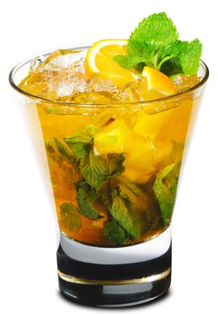 Cocktail - Mojito with Orange and Mint Stock Photo - 5123281