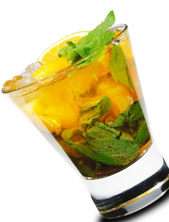 Cocktail - Mojito with Orange and Mint Stock Photo - 5123149