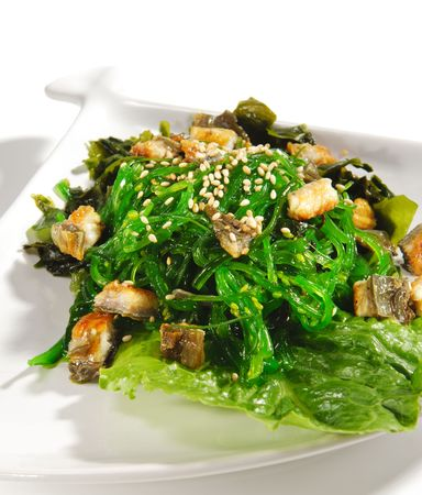 Japanese Cuisine - Seaweed Salad with Conger photo