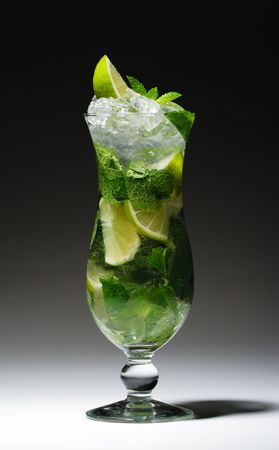 Cocktail - Mojito with Fresh Mint and Lime Slice Stock Photo - 5472151