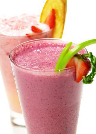 refreshment: Refreshment Berries Smoothies Stock Photo