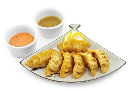 fish type: Japan Fish Dumplings with Two Type Sauce