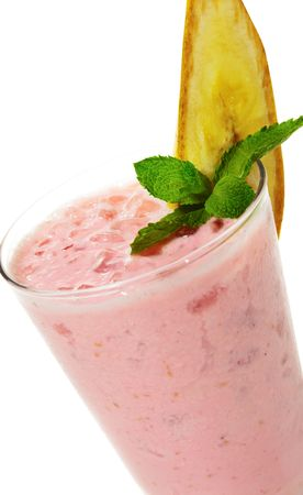 Banana and Strawberries Smoothie photo