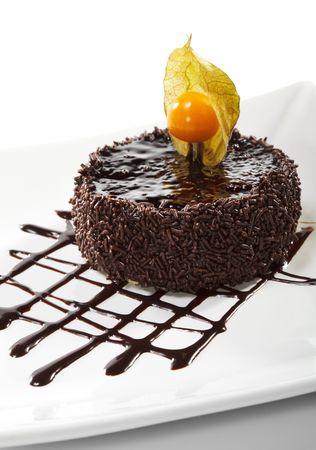 Dessert - Chocolate Iced Cake with Poppy Seed Stock Photo - 5883590