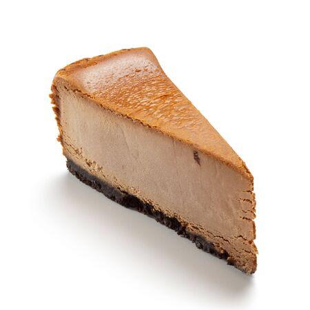 Chocolate cheesecake isolated on white background Stock Photo - 5883680