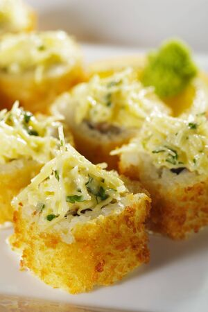 Maki Sushi - Deep fried Prawn with Cheese and Japanese Sauce photo