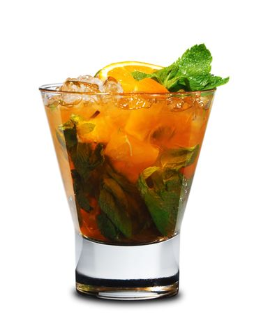 Cocktail - Mojito with Orange and Mint Stock Photo - 6549579
