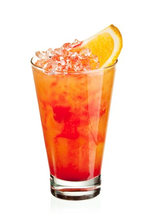 pineapple  glass: Fruits Cocktail - Orange, Pineapple, Grapefruit, Peach and Grenadine