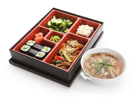 bento: Japanese Bento Lunch Stock Photo