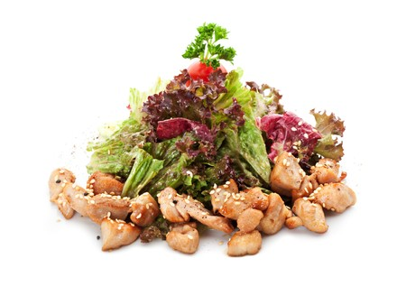 Salad with Chicken Fillet and Salad Leaf photo