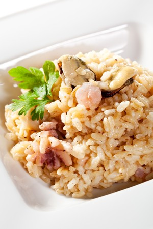 Risotto with Mussels, Octopus and Parsley photo