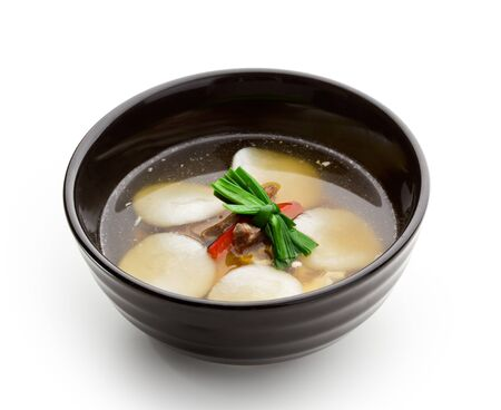Soup with Rice Dumplings and Veal Stock Photo - 7772740