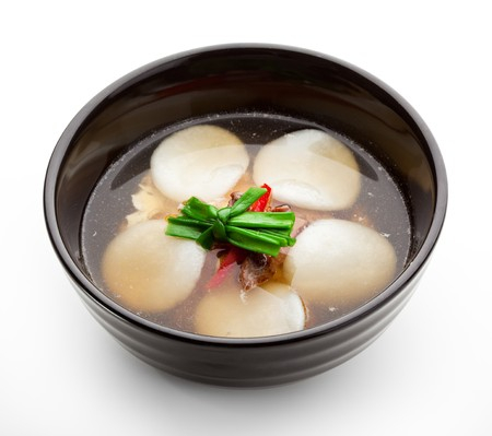 Soup with Rice Dumplings and Veal photo