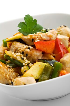 Chinese Cuisine - Chicken with Vegetables Stock Photo - 7773005