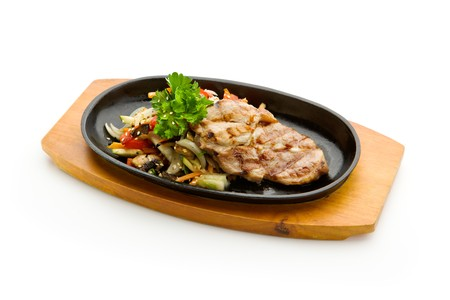 Grilled Foods - BBQ Pork with Vegetables photo