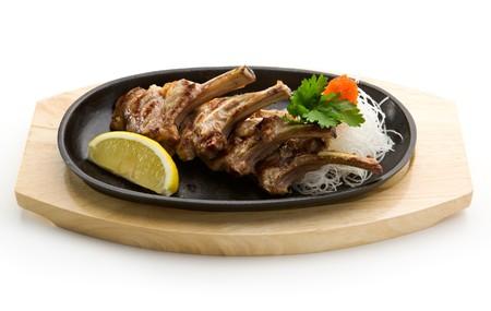 Grilled Foods - Rack of Lamb with Parsley, White Radish and Lemon Slice photo