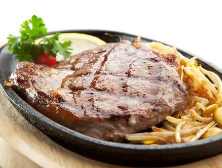 steak dinner: Grilled Foods - Prime Beef Steak with Soybean