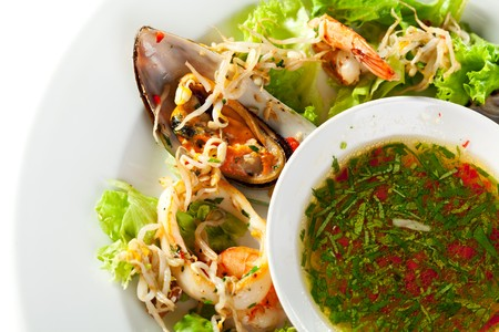 Seafood Salad with Soya and Spicy Sauce photo