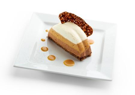 Dessert - Three Layer Chocolate Cake Stock Photo - 8006122