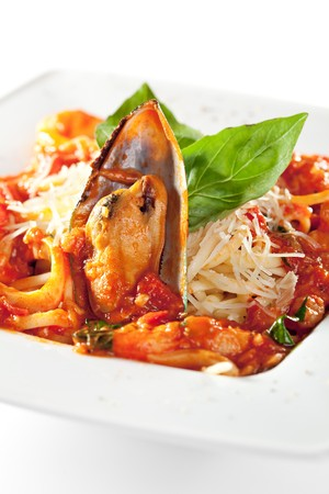 Pasta - Linguine with Seafood Plate photo