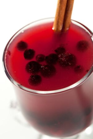 warm drink: Warm Drink - Mulled Red Wine with Berries