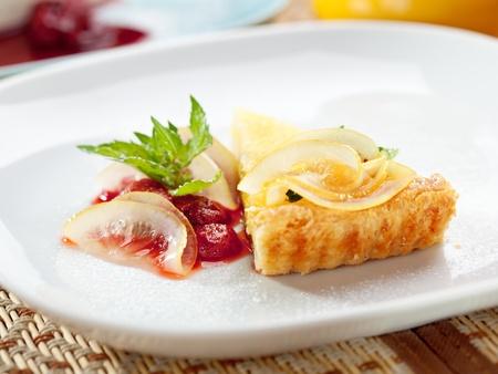 Dessert - Lemon Tart with Berries photo