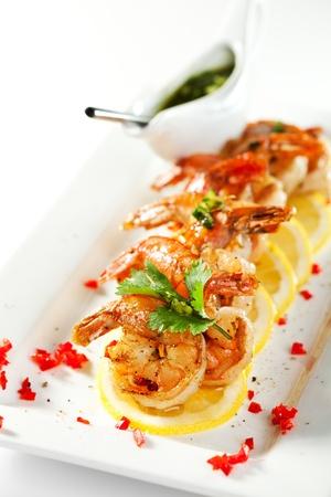 shrimp boat: Shellfish Stock Photo