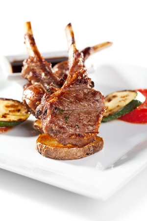 Lamb Chops and Vegetables photo