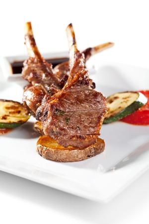 chop: Lamb Chops and Vegetables