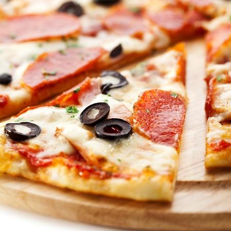 pizza: Salami pizza