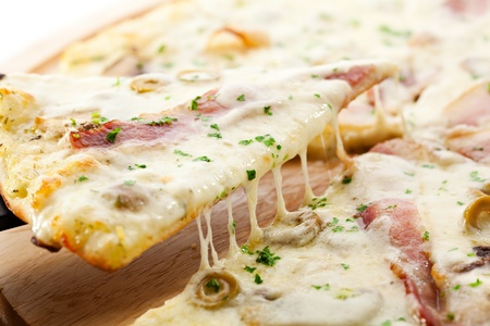 europe closeup: Delicate Pizza