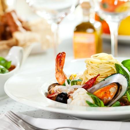 restaurante italiano: Seafood spaghetti