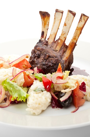 Lamb Chops with Risotto photo