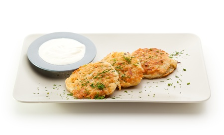 Potato Pancake with Sour Cream and Dill photo