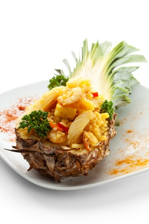 sweet course: Seafoods with Rice and Pineapple