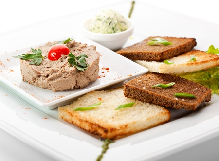 pate: Chicken Pate with Bread Toast
