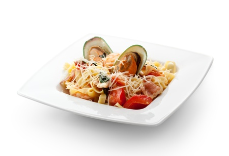 Pasta - Linguine with Seafood and Parmesan Cheese photo