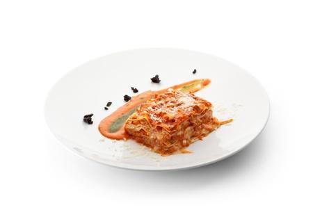 İtalyan mutfağı: Italian Cuisine - Lasagna with Sauce Stok Fotoğraf