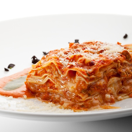 lasagna: Italiana Cocina - Lasagna con salsa